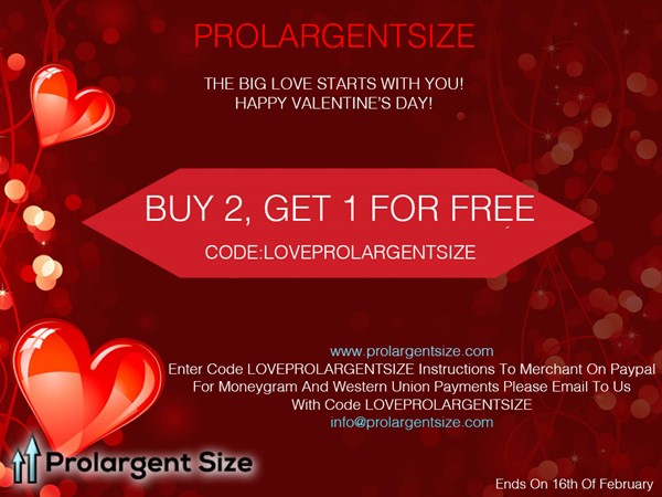 Prolargentsize Pills Valentine's Day 2018 Offer
